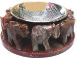 Supporto per bruciatore di incenso 8 elefanti 8 cm