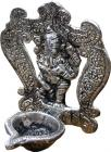 White metal ganesha incense holder
