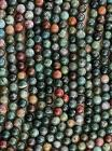 Agate Indienne perles 6mm sur fil 40cm