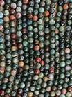 Agate Indienne perles 8mm sur fil 40cm