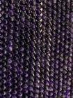 Amethyst A 5mm pearls on string