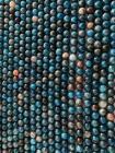 Apatite Bleue A perles 8mm sur fil 40cm