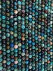 Chrysocolle A 8mm pearls on string