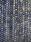 Blue chalcedony A 6mm pearls on string