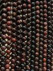 Perline di Rosso Granato da 10mm su filo da 40cm