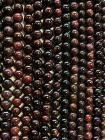 Perline di Rosso Granato da 7.2mm su filo da 40cm