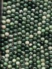 Green jade A 6mm pearls on string