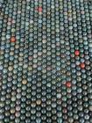 Perline di Diaspro eliotropio Bloodstone da 8mm su filo da 40cm
