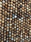 Perline di diaspro Paesaggio A da 8mm su filo da 40cm
