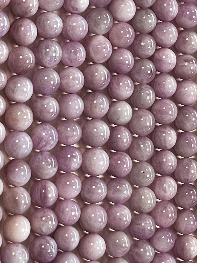 Kunzite A perles 8mm sur fil 40cm