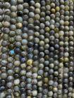 Perles Labradorite A 8mm sur fil 40cm