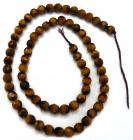 Faceted tiger eye 6mm pearls on string
