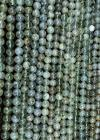 Prehnite A 6mm pearls on string