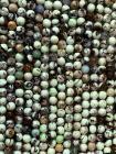 Turquoise naturelle vert clair d'Australie A perles 6mm sur fil 40cm