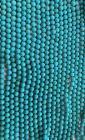 Turquoise Howlite naturelle teintée A perles 10mm sur fil 40cm