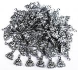 Beads charm's metal Happy Buddha 12mm x100