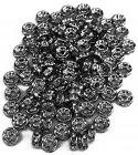 Crystal rhinestone spacer 6mm x100