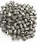 Beads charm's round silver Buddha head 8mm x100