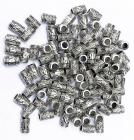 Silver metal spacer tribal tube 6mm x100