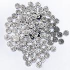 Perline charm's in metallo Albero della Vita rotondo 9mm x100
