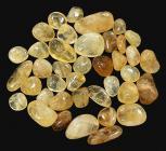 Natural Citrine AB tumbled stone 250g