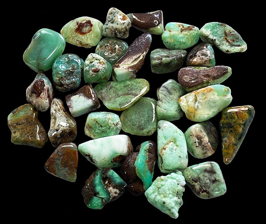 Chrysoprase AB pierres roulées 250g