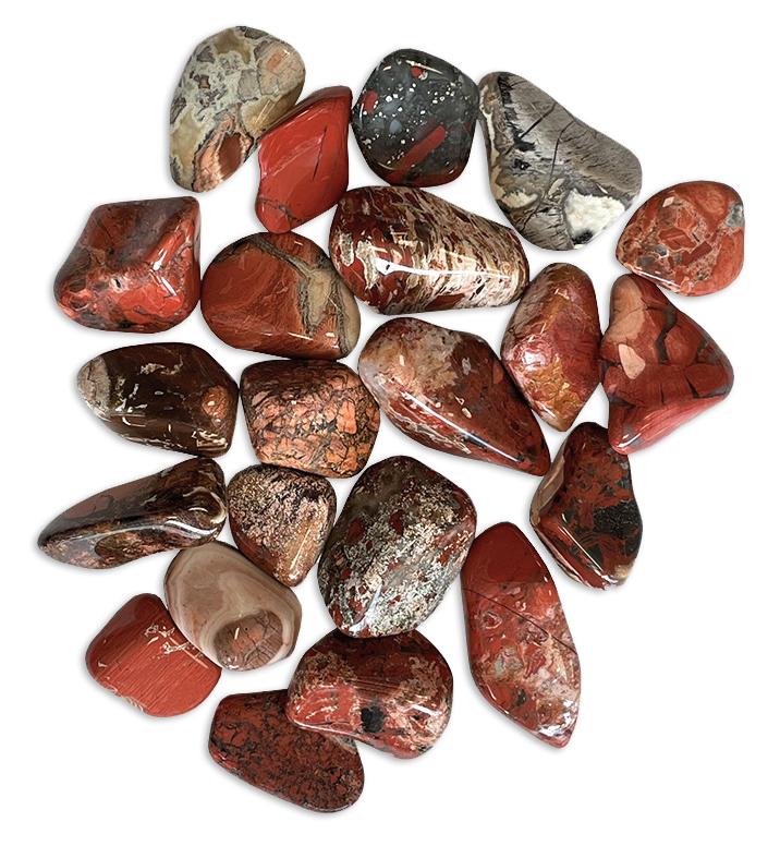 Jaspe Breschia AB pierres roulées 250g
