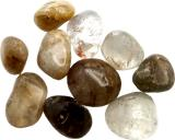 Rutilated Quartz A tumbled stones 250g