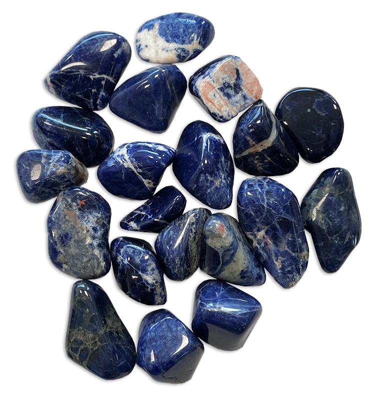 Sodalite Namibie AA pierres roulées 250g
