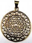 Bronze Mandala pendant 4cm