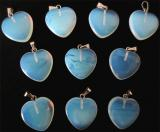 Ciondolo a forma di cuore in opalite