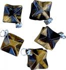 Merkaba tiger eye pendant x5