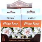 Encens tulasi sarathi coni rosa blanche