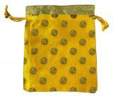 Small yellow Satin cotton bag Pack 100 pcs