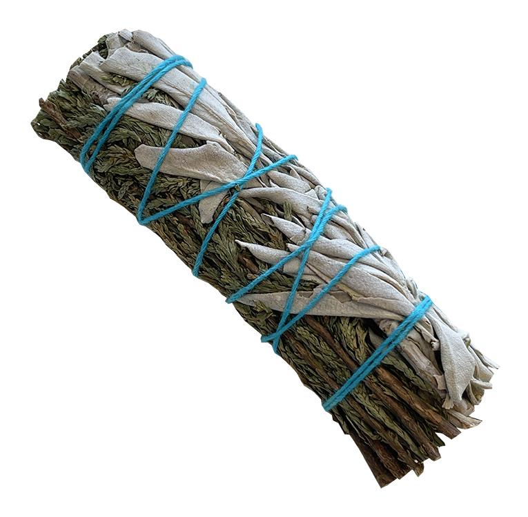 Natural white sage & Cedar smudge 25-30g 10cm