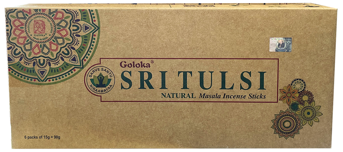 Encens goloka sritulsi basilic oraganica massala 6x15g