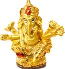 Golden ganesha statue 8cm