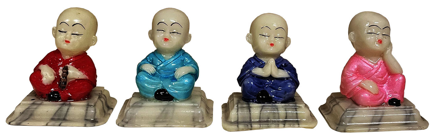 Set of 4 monks 7cm