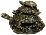 Antic Gold  Resin Prosperity Turtle Statue 12cm