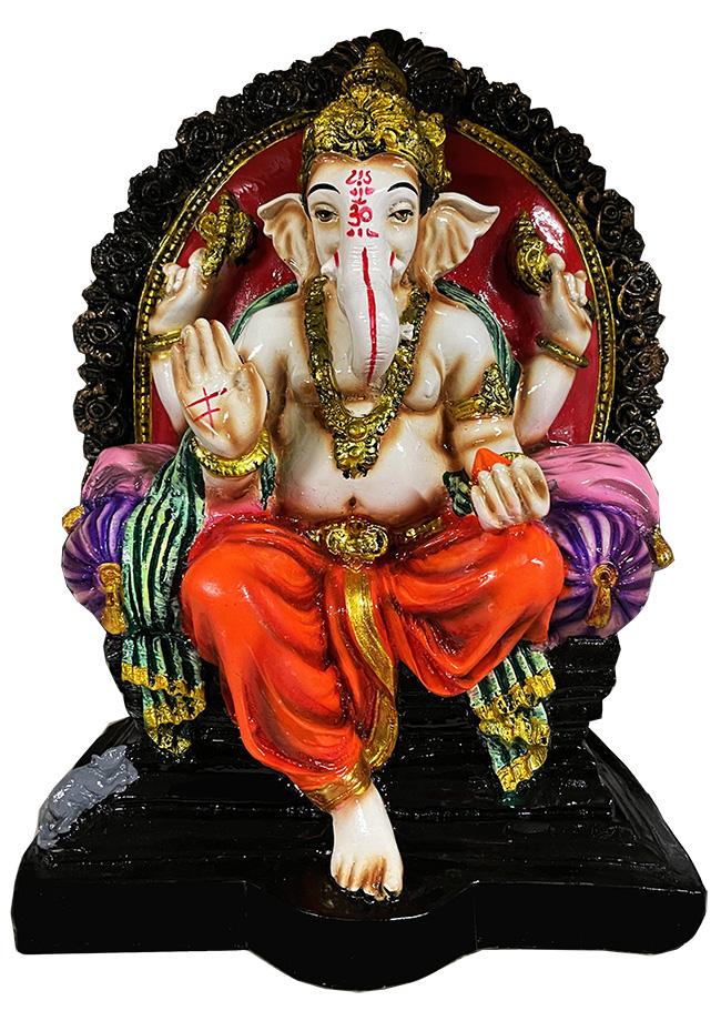 Ganesh en résine Violet, orange et Rouge 27cm