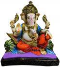 Resin Ganesha Purple & Orange 27cm