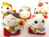 Set of 5 lucky chinese cat