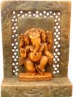 Stone shrine laddu ganesh 10cm