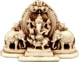 Statue ganesh resin 2 elephants 20x4x13cm