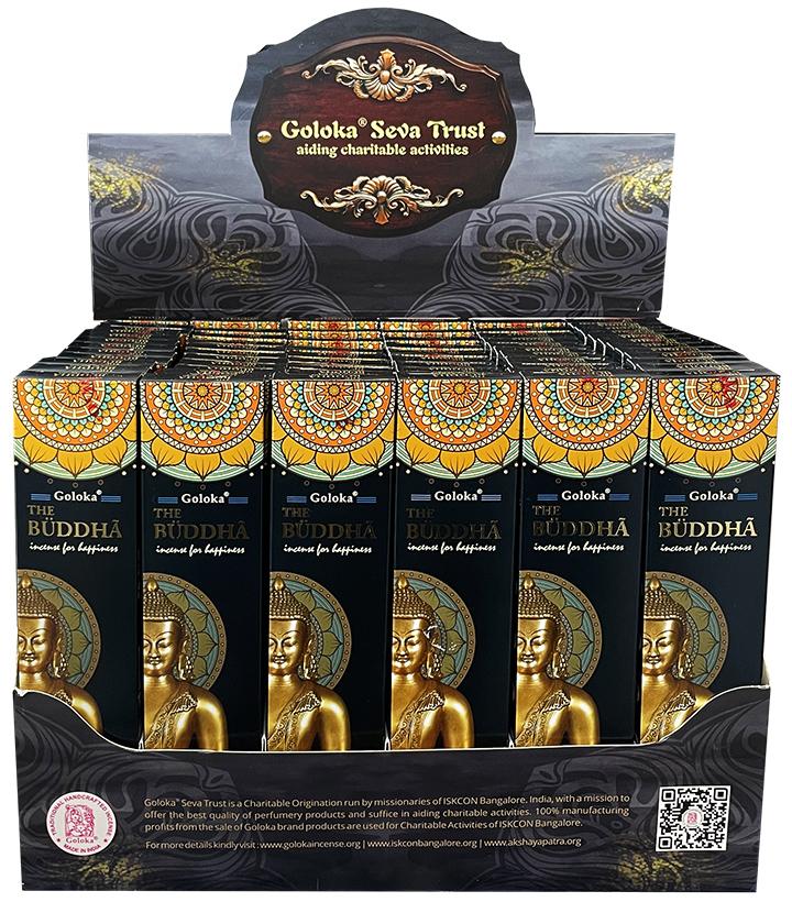 Buddha Natural masala incense stand 72 packs of 15g