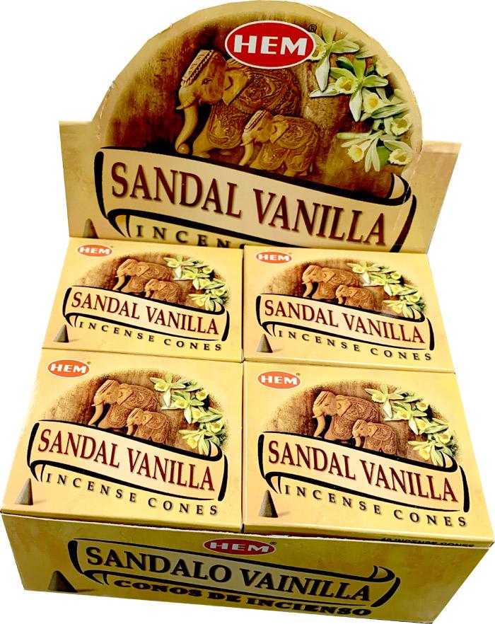 Encens hem Santal Vanille cones
