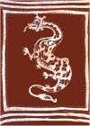 Tenture Batik Dragon Marron