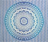 Mandala bedsheet dark blue & light blue