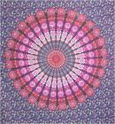 Mandala bedsheet purple fushia orange & blue