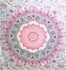 Lotus and flowers bedsheet purple and fushia